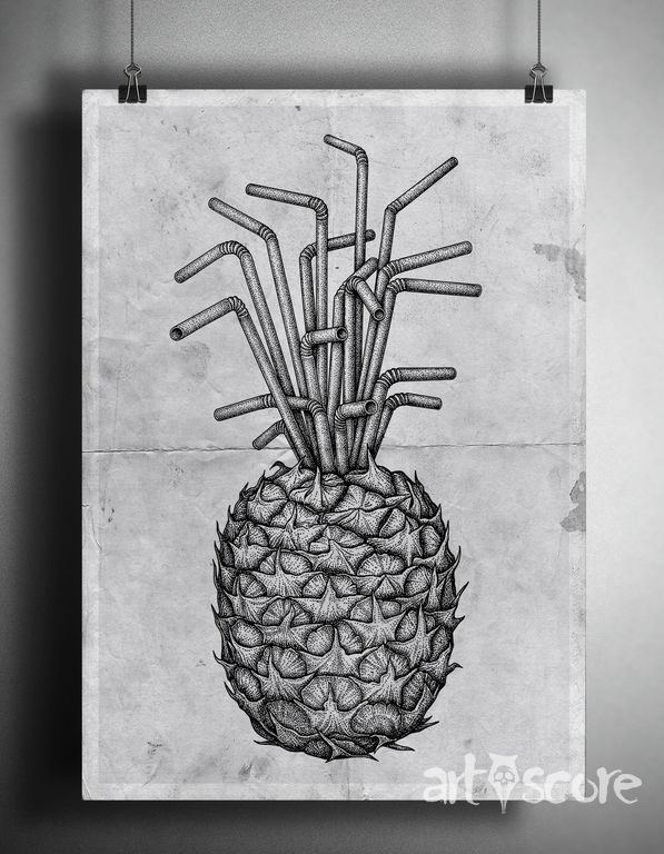 Pineapple straws