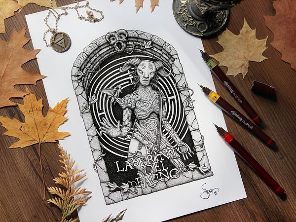 """Pan's Labyrinth"" design/original drawing"