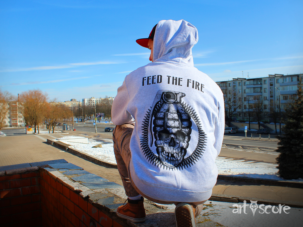"""Feed the fire"" t-shirts"